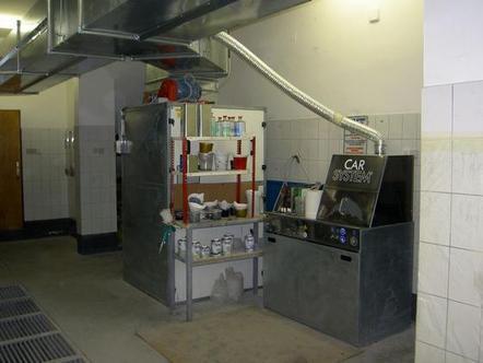 modernste Werkstatteinrichtung